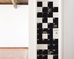 מדבקת קיר לוח גיר חודש