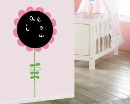 מדבקת קיר לוח גיר פרח