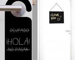 מדבקת קיר לוח גיר שלט לדלת