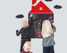 מדבקת קיר לוח גיר בית