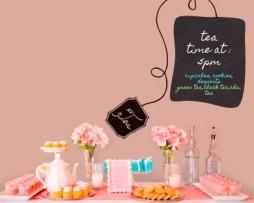 מדבקת קיר לוח גיר שקית תה