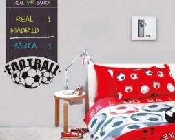 מדבקת קיר לוח גיר כדורגל