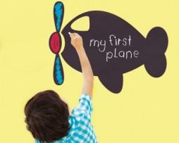 מדבקת קיר לוח גיר מטוס