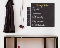 מדבקת קיר לוח גירים רשימת מטלות