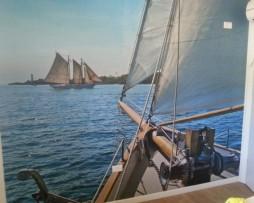 הדבקת תמונת טפט סירה בים