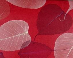 טפט לקיר טבעי עלים גוון אדום
