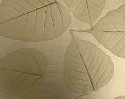 טפט לקיר טבעי עלים צהוב לבן