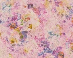 טפט לקיר פרחים ועלים צבעוניים בגדלים