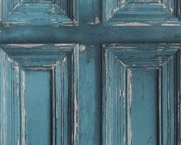 טפט לקיר דלתות ישנות צבע טורקיז