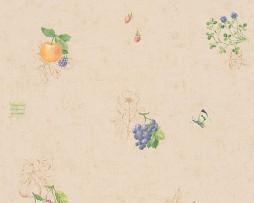 טפט לקיר פירות קטנים רקע שמנת