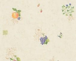 טפט לקיר פירות קטנים רקע לבן