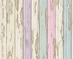 טפט לקיר דמוי קיר מתקלף צבעוני