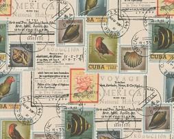 טפט לקיר בולים וחתימות דואר צבעוני