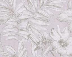 טפט פרחים בגוון סגול לילך