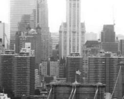תמונת טפט גשר מנהטן שחור לבן