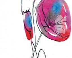 תמונת טפט פרחים מאויירים