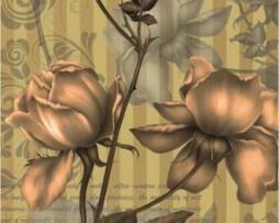 תמונת טפט פרחים בצללית
