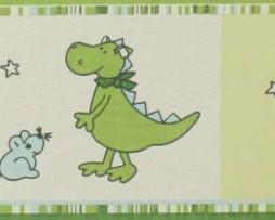 בורדר לילדים דרקונים בגוון ירוק