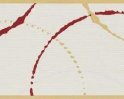 בורדר צורות וקישקושים בגוון קרם ואדום