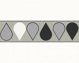 בורדר צורת טיפות בגוון שחור אפור