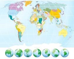 תמונת טפט מפת העולם וכדור הארץ