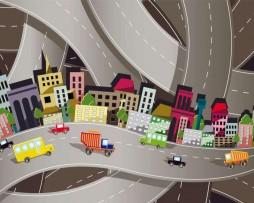 תמונת טפט כבישים מצויירים