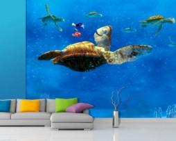 תמונת טפט צב ים של נמו הדג דוגמא