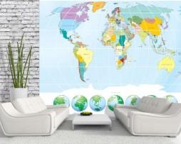 תמונת טפט מפת העולם וכדור הארץ דוגמא