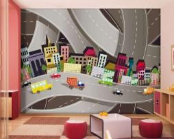 תמונת טפט כבישים מצויירים דוגמא