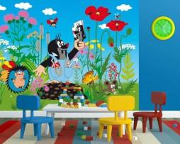 תמונת טפט חיות דיסני ופרחים דוגמא