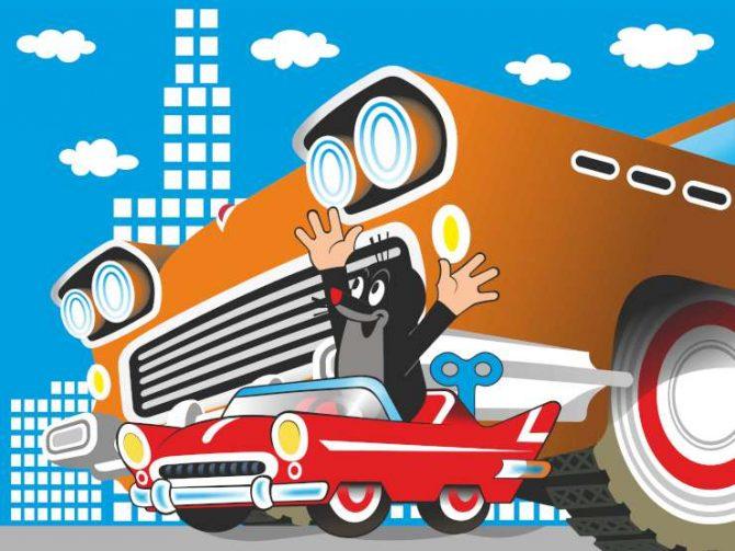 תמונת טפט סנאי של דיסני במכונית