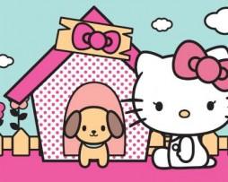 תמונת טפט הלו קיטי וכלב