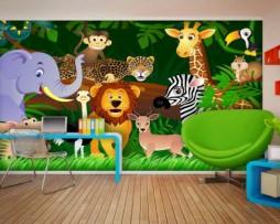 תמונת טפט חיות בג'ונגל דוגמא
