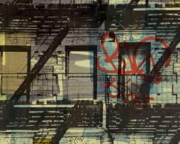 טפט לקיר גרפיטי מרפסות