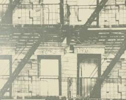 טפט לקיר גרפיטי מרפסות שחור לבן