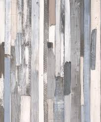 טפט לקיר דמוי עץ גווני אפור כחול