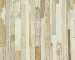 טפט לקיר דמוי עץ בגווני חום בהיר