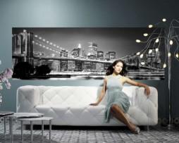 תמונת טפט גשר ברוקלין שחור לבן