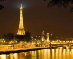 תמונת טפט צרפת בלילה