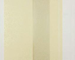 טפט פסים עיטורי עלים בגוון קרם