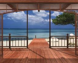 תמונת טפט נוף החוף מהפרגולה