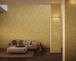 טפט לקיר עלים זהב עם עיטורים אמזונס