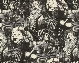 טפט אריות,נמרים וזברות עם נצנצים