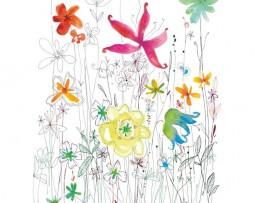 תמונת טפט איור פרחים