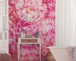 תמונת טפט לקיר פרחים ורודים