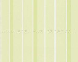טפט פסים ירוק לבן