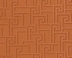 טפט לקיר צורות גאומטריות בגוון נחושת