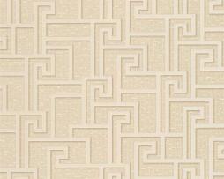 טפט לקיר צורות גאומטריות בגוון בז'