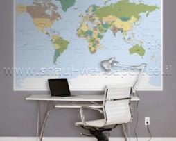תמונת טפט לקיר מפת עולם
