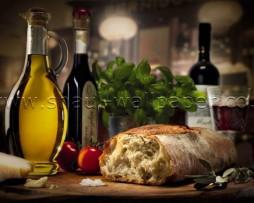 תמונת טפט לקיר לחם ושמן